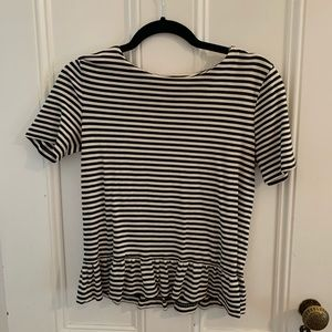 Striped J Crew Short Sleeve shirt